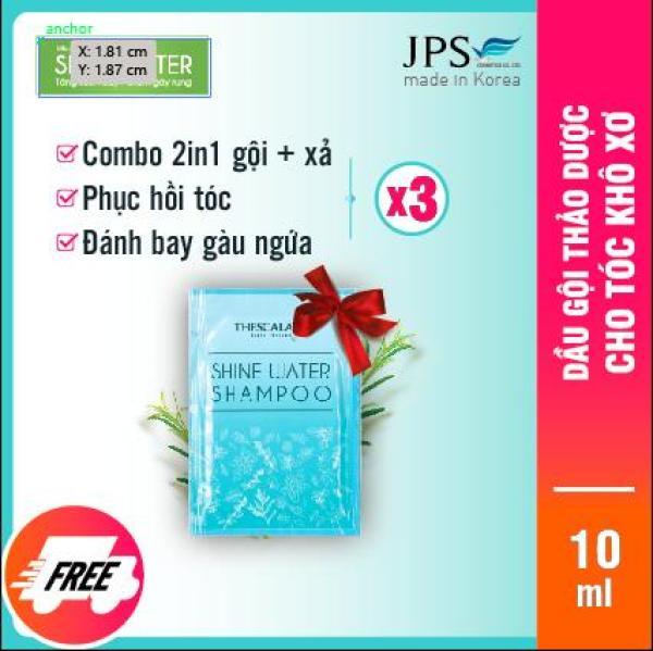 [3 GÓI 10MIL] Dầu gội thảo dược Shine water shampoo JPS004 shopHAV 0% chất tạo màu, Paralben, Sunfate, Silicon, An toàn tuyệt đối cho BÀ BẦU, cho mái tóc suôn mượt, giảm rụng tóc rõ rệt, nhập khẩu Korea, có chứng nhận của bộ Y Tế