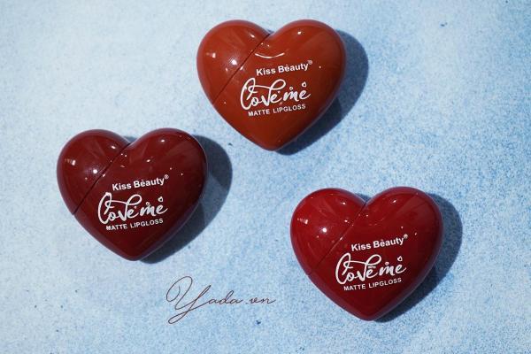 Son Kem Tint Kiss Beauty Trái Tim For Valentine - 6 màu Hot Trend năm 2020 tốt nhất