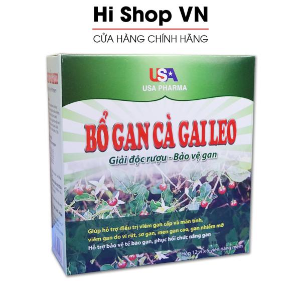 Bổ Gan Cà Gai Leo USA Pharma mát gan, giải độc gan, hạ men gan - Hộp 60 viên dùng cho người từ 6 tuổi giá rẻ