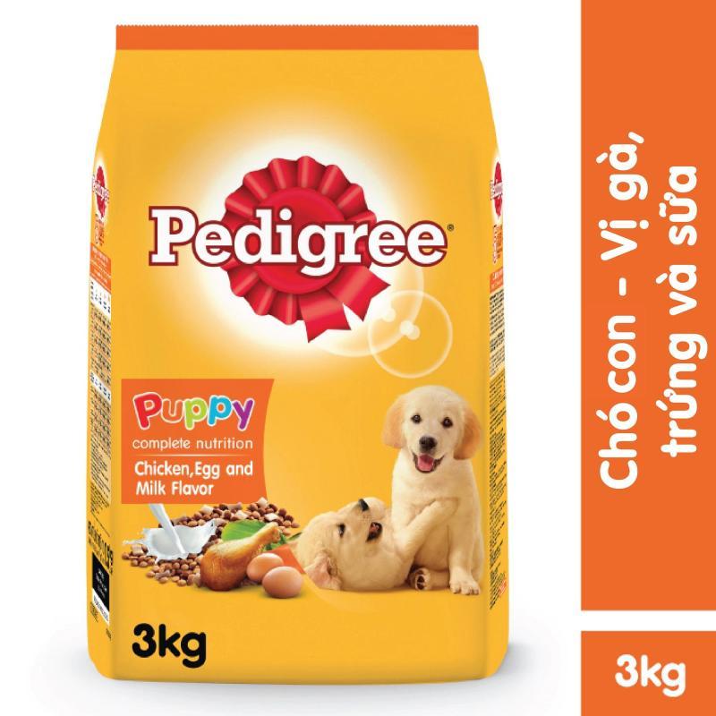 Thức ăn chó con Pedigree vị gà & trứng sữa túi 3kg Cung cấp dinh dưỡng tăng cường hệ miễn dịch