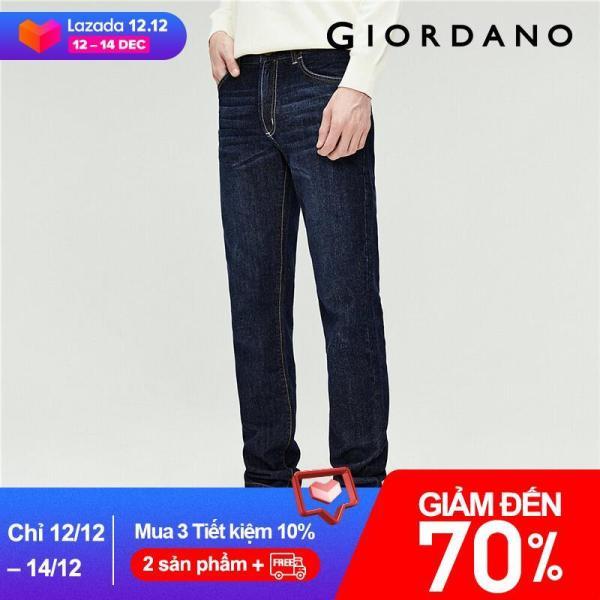 Quần jean dài nam form ôm thoải mái Miễn phí vận chuyển Giordano