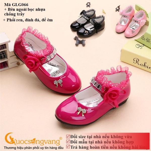 Giá bán Giày đính đá bé gái giày bé gái thêu ren GLG066 Cuocsongvang