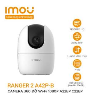 Camera I Imou Ranger 2 4M IPC-A42P-B, 360- Smart track - 2-way talk - Siren- IR10m, 2Y WTY thumbnail