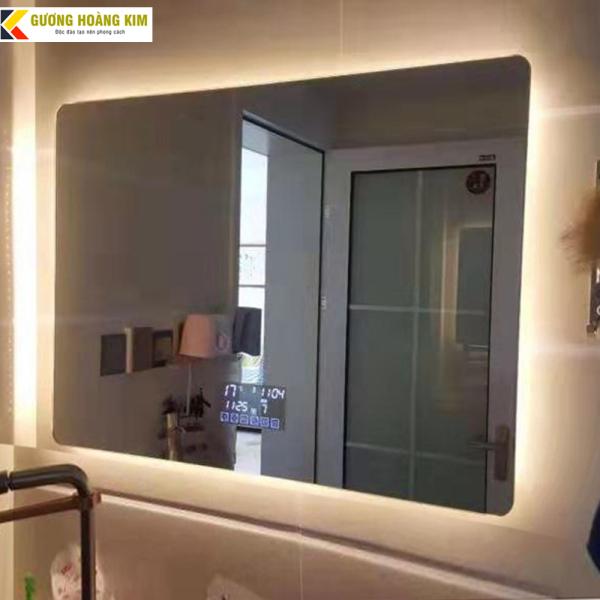 [ giá sỉ ] Gương Phòng Tắm Đèn Led cảm ứng 3 chạm thông minh kích thước 50x70 cm - guonghoangkim mirror