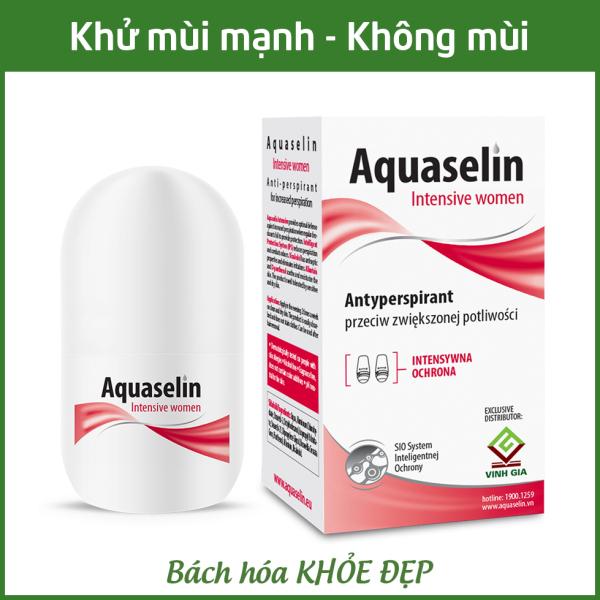 Aquaselin intensive women 20ml Lăn khử mùi không mùi cho nữ mồ hôi nách nhiều - Dùng cho mọi loại da