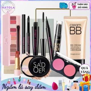 Bộ trang điểm cá nhân hè 2021 Images 9 món TẶNG KÈM NHŨ MẮT đầy đủ Từ A Đến Z, Bộ Makeup cho người mới bắt đầu, Set trang điểm chuyên nghiệp HTL-BTD 9M01 thumbnail