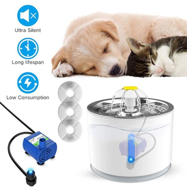 【CNUH MALL】 Chó mèo điện Máy lọc nước tự động cho thú cưng Bát uống nước + đèn LED