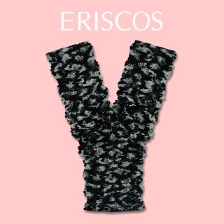 Quần lót chữ Y ren hoa thương hiệu ERISCOS kiểu dáng lọt khe, sexy quyến rũ, chất ren nhập khẩu mềm mại khô thoáng họa tiết ren hoa đen phối trắng ERQY008 thumbnail