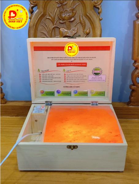Hộp Đèn Đá Muối Himalaya Massage Chân Dạng Vòm 1 Viên Đỉnh Việt nhập khẩu