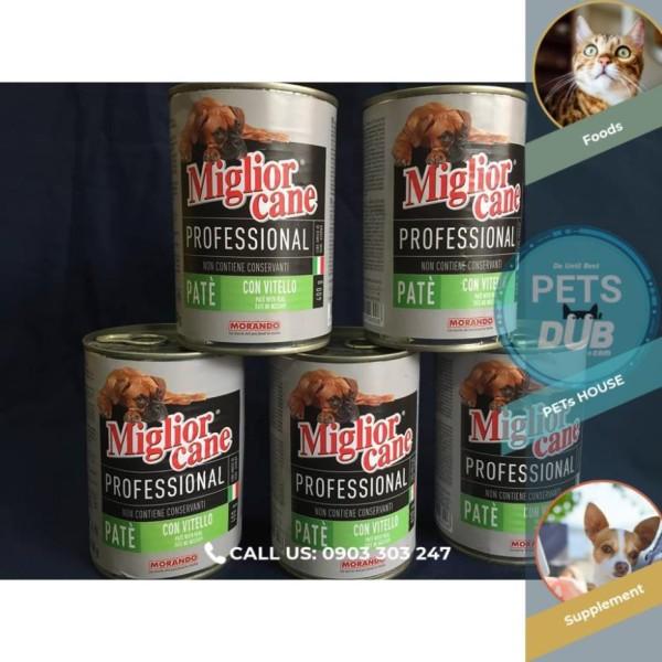 Combo 5 lon Pate Miglior Cane cho chó mọi lứa tuổi 400g (PETs dub)