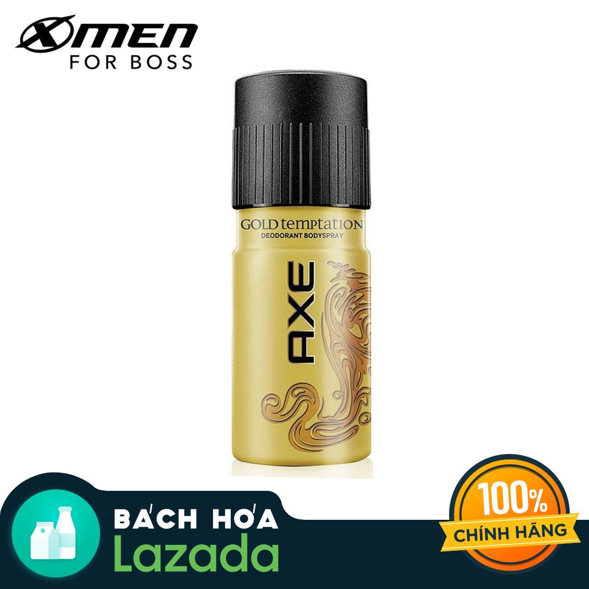 Xịt Ngăn Mùi Axe Gold Temptation Chai 150ML nhập khẩu
