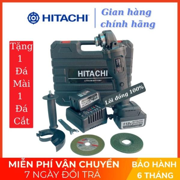 Máy mài cầm tay pin Hitachi 118V - 2 PIN 20000mAh - Động cơ không chổi than - 100% Đồng TẶNG 1 ĐÁ MÀI VÀ 1 ĐÁ CẮT