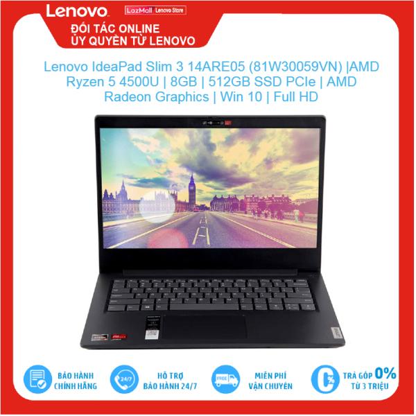 Bảng giá Lenovo IdeaPad Slim 3 14ARE05 (81W30059VN)  AMD Ryzen 5 4500U   8GB   512GB SSD PCIe   AMD Radeon Graphics   Win10   Full HD, Brand New 100%, hàng phân phối chính hãng, bảo hành toàn quốc Phong Vũ