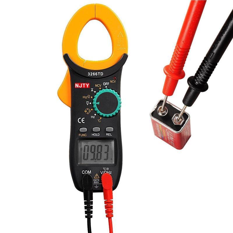 Ampe kìm kẹp mét NJTY 3266TD bỏ túi, công cụ sửa chữa điện , điện lạnh có đo thông mạch và kiểm tra dây đứt