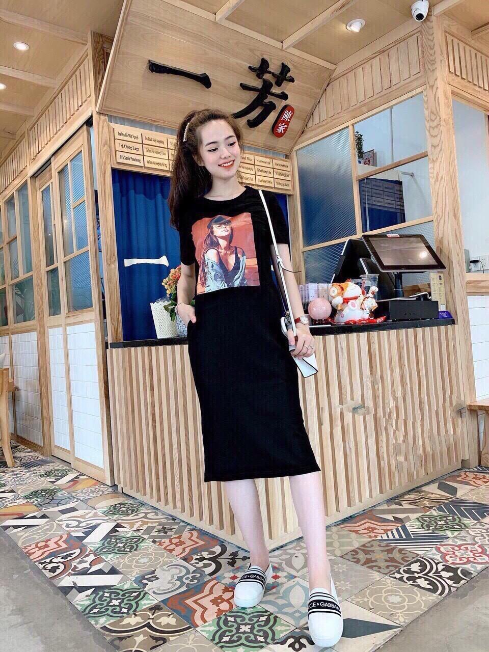 Đầm Suông In Hoạt Hình Vải Thun Mềm Mịn T89 Phù Hợp Mọi Lứa Tuổi Mọi Vóc Dáng Dễ Phối Trang Phục (Có Big Size) Đang Khuyến Mại Khủng