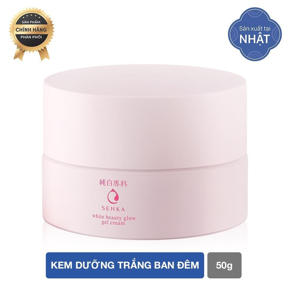 Kem dưỡng trắng ban đêm Senka White Beauty Glow Gel Cream 50g nhập khẩu