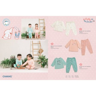 Bộ áo dài tay quần dài cúc vai Garden Chaang thumbnail