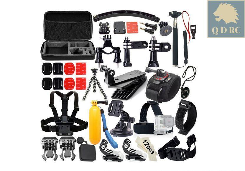 Giá Bộ phụ kiện 50 món in 1 cho GOPRO XIAOMI SJCAM máy quay hành động action cam tặng kèm hộp đựng cao cấp N55