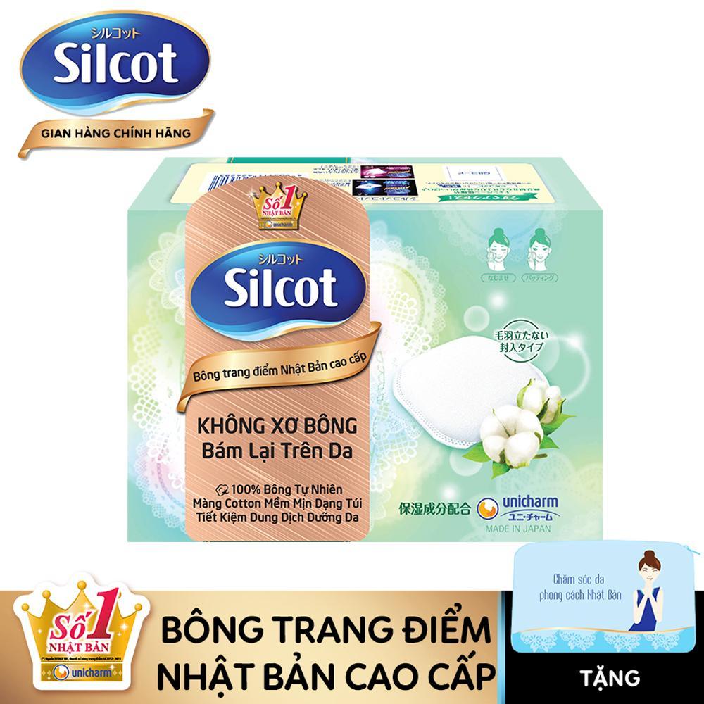 [TẶNG kèm ví trang điểm Silcot] Bông trang điểm (Bông tẩy trang) Silcot Premium hộp 66 miếng