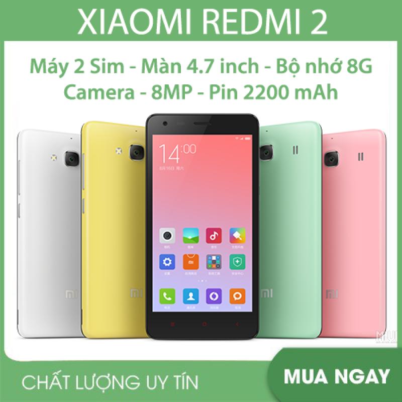 Điện thoại Smartphone Xiaomi Redmi 2 (2 Sim 2 Sóng) chiến ZALO FB YOUTUBE TIKTOK