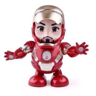 Đồ chơi robot Iron Man người sắt nhảy múa vui nhộn theo nhạc, có đèn Led, chất liệu ABS an toàn cho bé - Time365 thumbnail