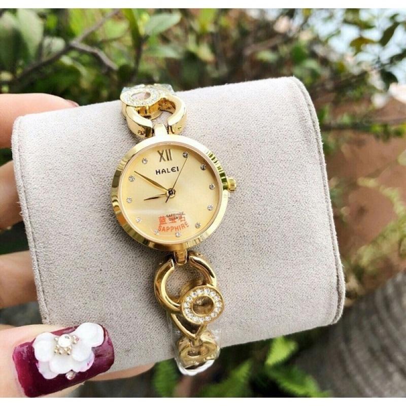 Đồng hồ nữ Halei dây thép chống gỉ chống nước