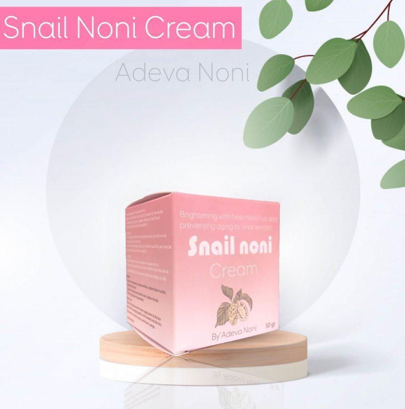 [Mỹ Phẩm Từ Thiên Nhiên ADEVA NONI] Kem dưỡng da Trái Nhàu Ốc Sên – ADEVA Snail Noni Cream 50gr giá rẻ