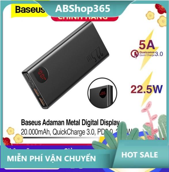 Pin dự phòng sạc nhanh Baseus Adaman Metal Digital Display Quick Charge 22.5W 10000mAh / 20000mAh abshop365 hshop365hn hshop365 abshop hshop