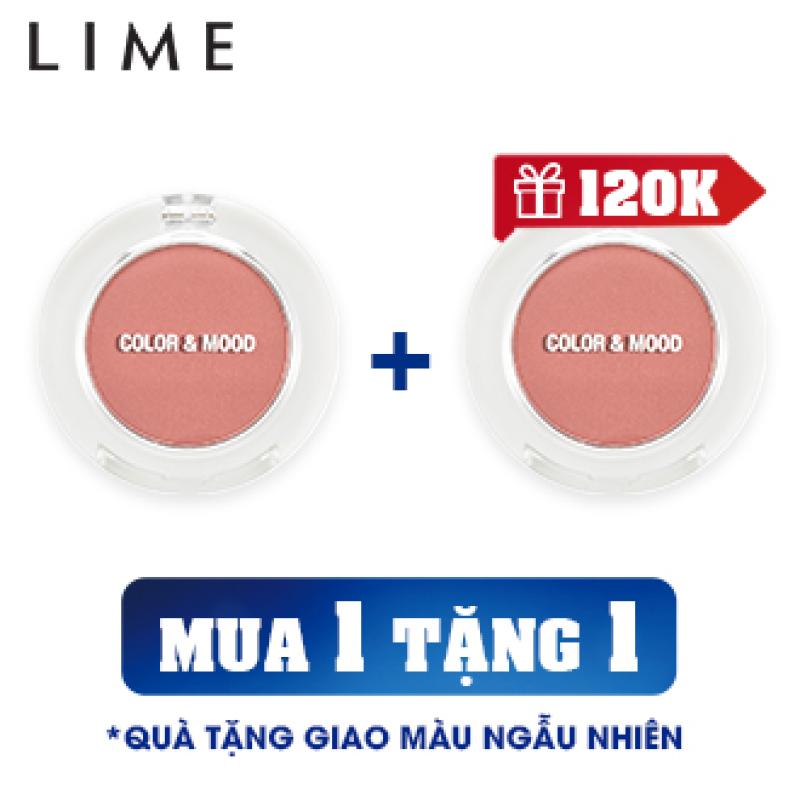 [ MUA 1 TẶNG 1]Phấn Mắt Không Nhũ Lime Color & Mood Single Shadow 1.4g, lớp phấn phủ mỏng tạo cảm giác nhẹ nhàng, mềm mại, không tạo nếp gấp giá rẻ