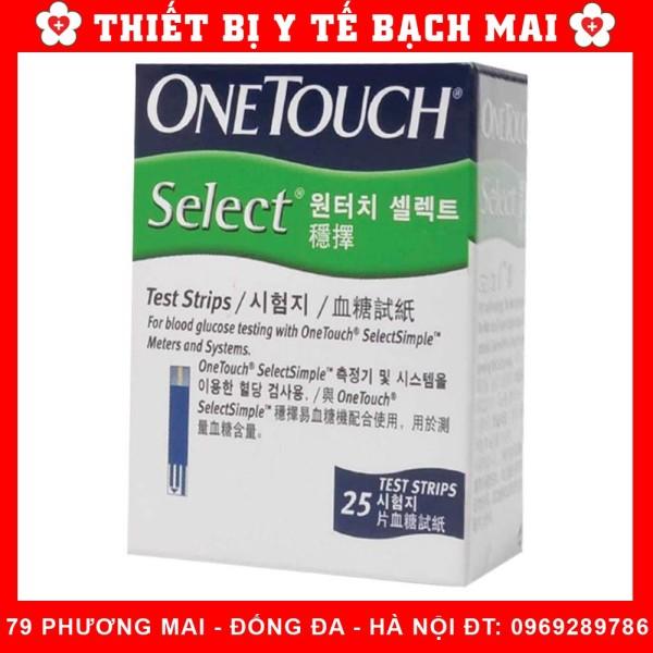 Nơi bán Que Thử Đường Huyết Onetouch Select [25 Que, 10 Que + Tặng 25 Kim] - hộp 10 que +10 kim