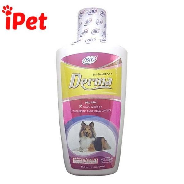 Sữa Tắm Dưỡng Da Phòng Ngừa Ghẻ Nấm Cho Chó Mèo - Bio Derma 200ml - iPet Shop