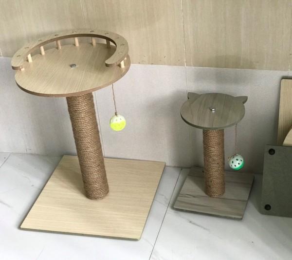 [HCM]Trụ cào móng cho mèo bằng gỗ