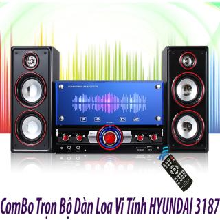 XẢ HÀNG Bộ Loa Vi Tính Cao Cấp Huyndai 3187 Giá Tốt, Bán Nhanh Loa Hyundai 3187 Hỗ Trợ Kết Nối Bluetooth, Thẻ Nhớ, Usb, Dàn Loa Karaoke, Amply, Loa Kéo, Loa Chuyên Dụng Với Bass+Treble Sống Động, Chân Thực, Tiếng Bass Nghe Chắc, Êm Tai thumbnail