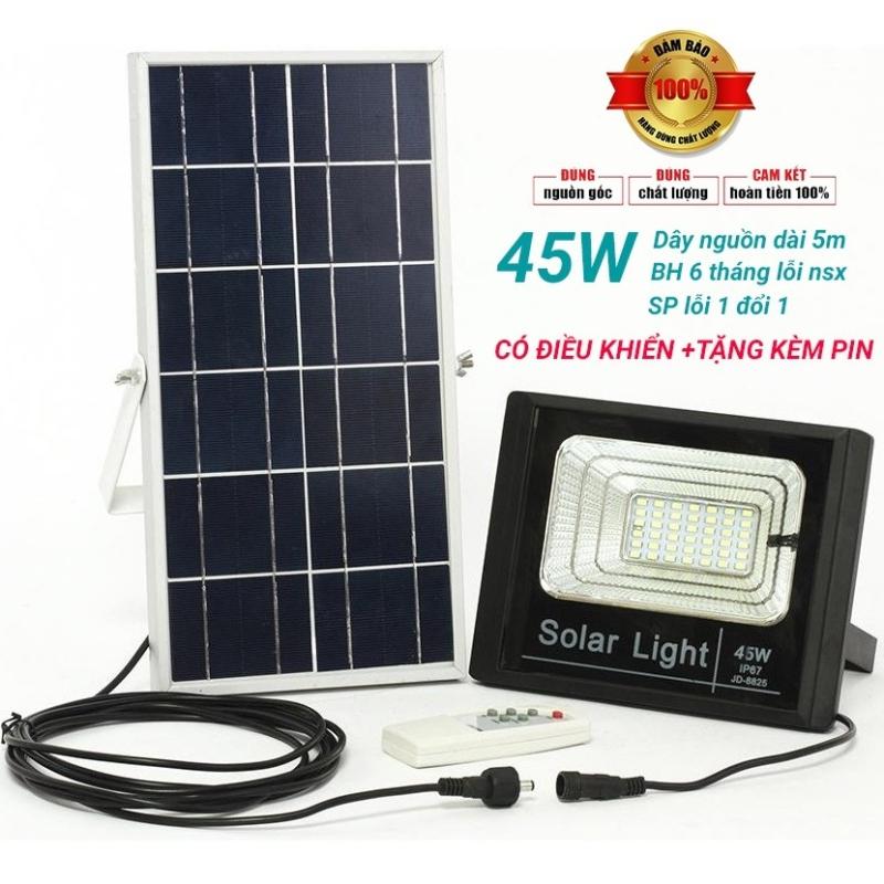 ĐÈN NĂNG LƯỢNG MẶT TRỜI MAX TECH 60W - 45W SOLAR LIGHT - ĐIỀU KHIỂN TỪ XA - PIN SẠC TRỌN DỜI - D1060