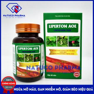 Viên uống giảm mỡ máu LIPERTON AOE- HSD 2023 - Ngừa gan nhiêm mỡ, máu nhiễm mỡ, xơ vữa động mạch, giảm béo hiệu quả - thành phần 100% thảo dược - Hộp 30 viên chuẩn GMP Bộ Y tế thumbnail
