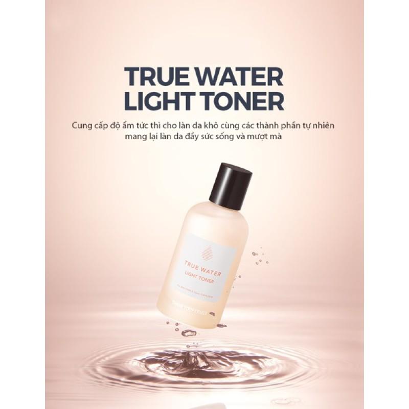 Nước hoa hồng dưỡng ẩm dịu nhẹ Thank You Farmer True Water Light Toner 155ml cao cấp