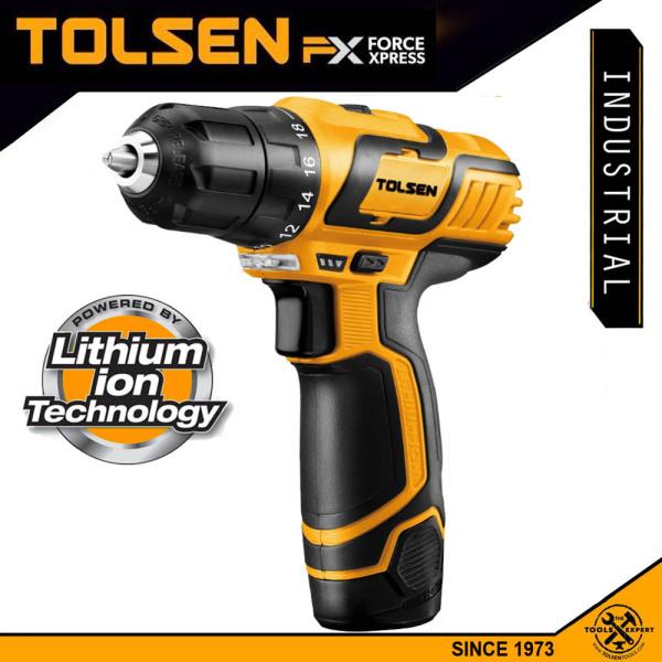 SALE 9/9 (Có VIDEO máy) Khoan pin TOLSEN 79023, tốc độ lên tới 1.400v/p, bảo hành chính hãng