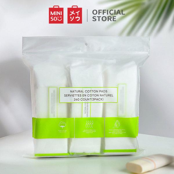 Bông tẩy trang Miniso 240 miếng Layerable (3 túi cá nhân)