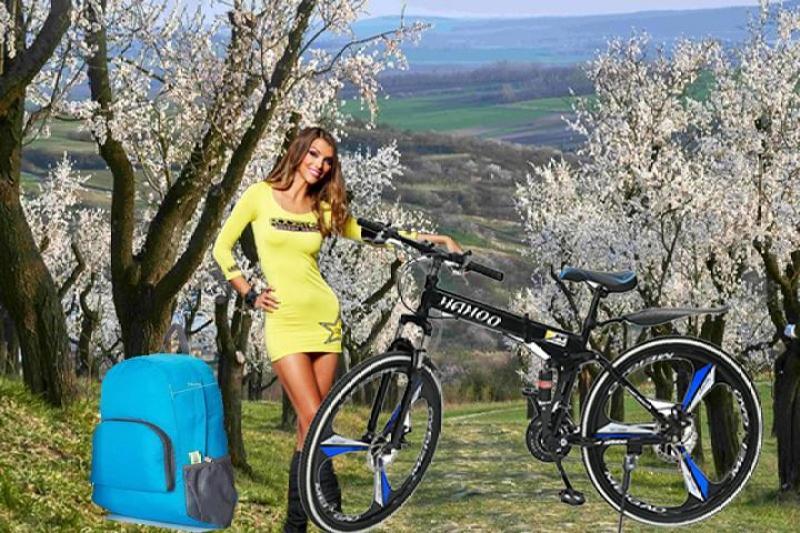 Phân phối Xe đạp thể thao địa hình HaHoo (Bánh mâm) [Tặng kèm Balo thời trang gấp gọn chống thấm nước]