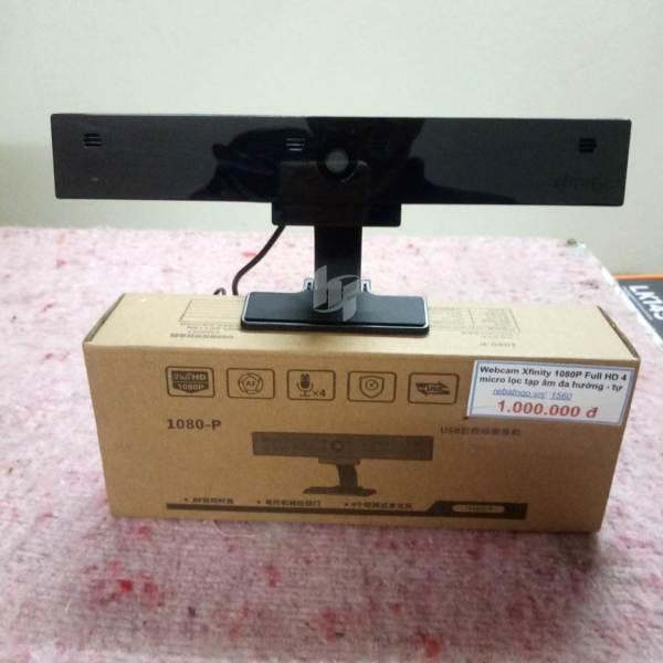 Bảng giá Webcam cao cấp Xfinity 1080P Full HD 4 micro lọc tạp âm đa hướng - tự động lấy nét - chat, livecam, livetream rất ngon Phong Vũ