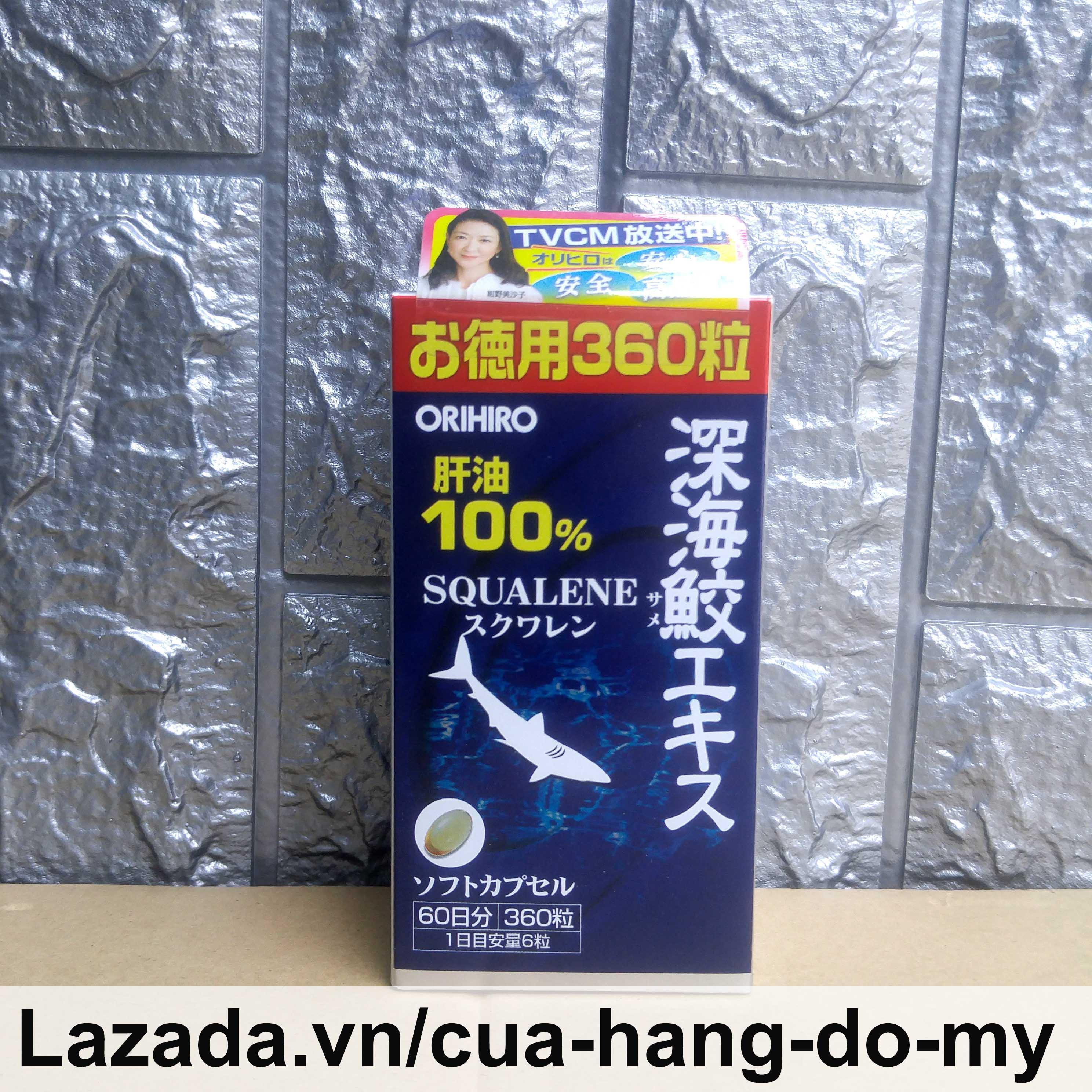 Viên uống Dầu Gan Cá Mập Sụn Vi Cá Mập Squalene Shark Orihiro 360 viên Nhật Bản nhập khẩu