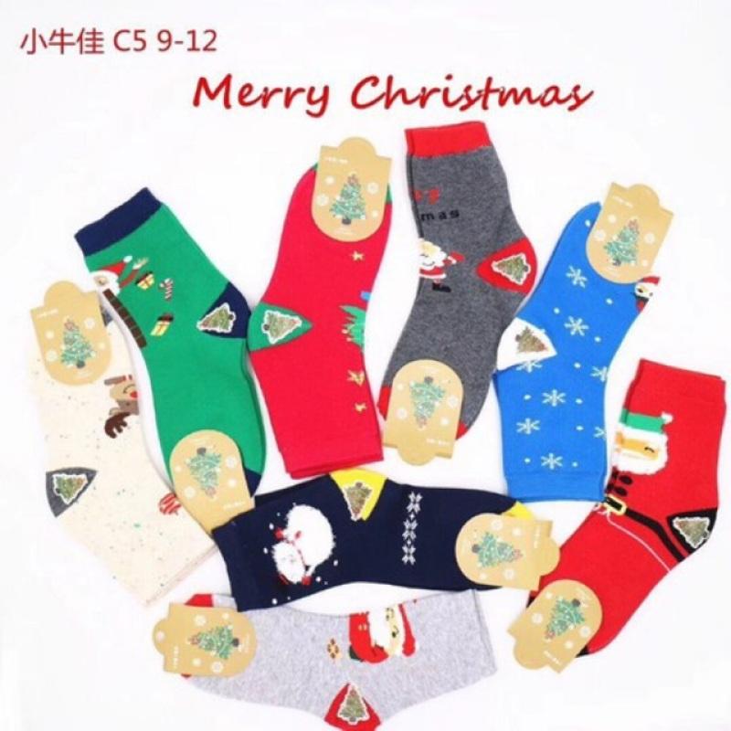 Tất Noel cho bé, chất cotton mềm mại, dễ chịu, đi vào cực kì êm chân, dành cho bé từ 2-12 tuổi