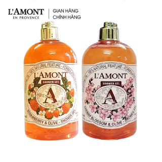 Combo Sữa tắm Cherry Blossom ( hoa anh đào) 500ml và Sữa tắm Strawberry (dâu tây) 500ml - L amont En Provence thumbnail