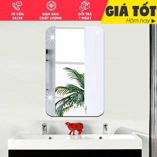Gương dán tường- Gương dán tường 3D siêu rõ nét kích thước 42 x 27 hình chữ nhật, Gương Trang Điểm, Gương Soi Toàn Thân, Guơng Trang Trí Phong tắm thumbnail