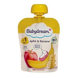 Trái Cây Nghiền Bio Fruchtpuree Baby Dream cho bé trên 1 tuổi vị táo chuối thumbnail
