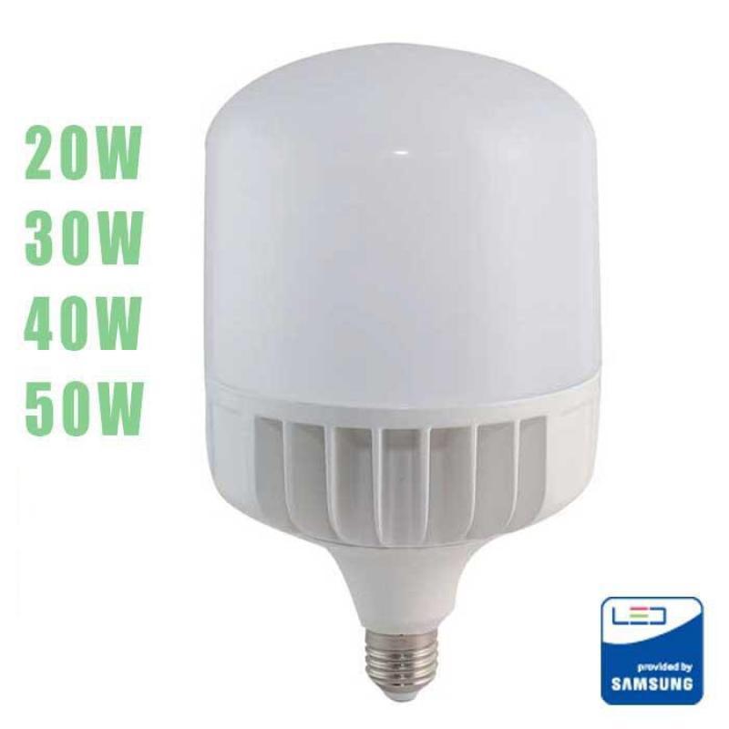 Bóng đèn LED BULB trụ Rạng Đông 20W - 30W - 40W - 50W, ChipLED SAMSUNG Bảo Hành 2 Năm