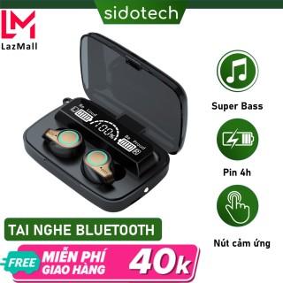 Tai nghe bluetooth không dây SIDOTECH mini TWS true wireless có micro không dây bluetooth 5.1 âm thanh CV8 bùng nổ Siêu Bass, màn hình LED hiển thị pin, cảm ứng vân tay cực nhạy có sạc dự phòng cho điện thoại - Hàng Chính Hãng thumbnail