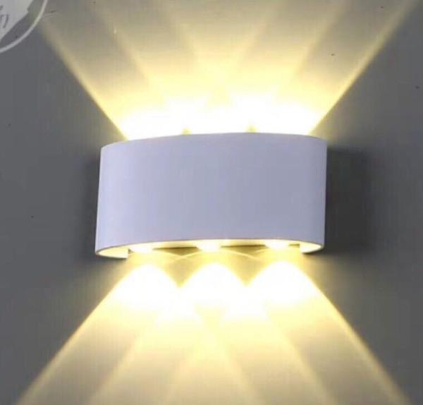 Bảng giá Đèn hắt tường 2 đầu 6w chống nước ánh sáng vàng và nhiều màu