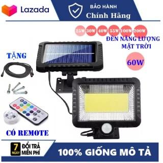 (Bảo Hành 12 tháng) Đèn năng lượng mặt trời 60W , Chống nước , dùng trong cả mùa mưa , đèn năng lượng mặt trời có điều khiển -remote thumbnail