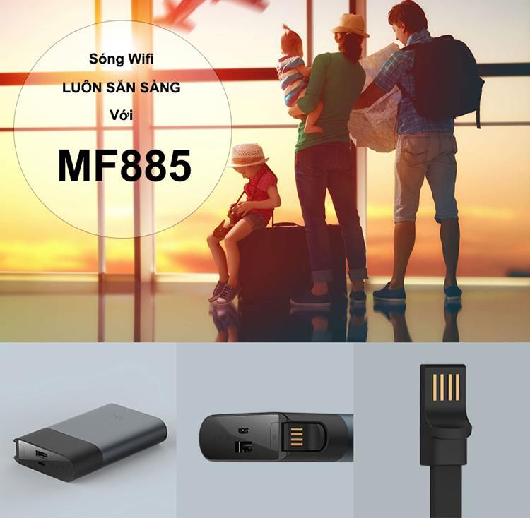 Giá Bộ Phát Wifi Kiêm Pin Sạc Dự Phòng Xiaomi ZMI MF885